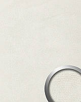 WallFace 15610 LEGUAN дизайнерская самоклеящаяся настенная панель из синтетической кожи белая | 2,6 м.к