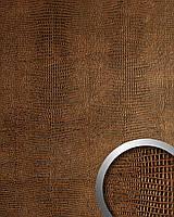 WallFace 12894 LEGUAN дизайнерская самоклеящаяся настенная панель из синтетической кожи медно-коричневая | 2,6 кв.м