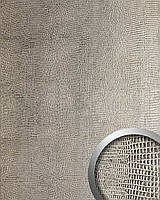 WallFace 12893 LEGUAN дизайнерская самоклеящаяся настенная панель из синтетической кожи серо-серебряная | 2,60 кв.м