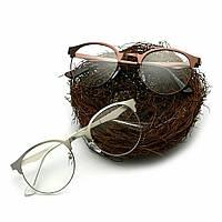 Имиджевые очки в металлической оправе в стиле клабмастер