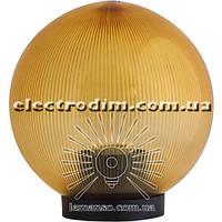 Шар диаметр 150 золотой призмат. Lemanso PL2102 макс. 25W  + база с E2 описание, отзывы, характеристики
