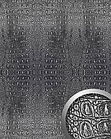 WallFace 13521 CROCO панель настенная самоклеящаяся из искусственной крокодиловой кожи черно-серебряная | 2,60 м