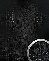WallFace 13826 CROCONOVA панель настенная самоклеящаяся из искусственной крокодиловой кожи черная | 2,60 м