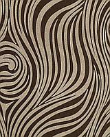 EDEM 1016-13 дизайнерские супермоющиеся обои с рисунком под зебру | с какао-коричневыми и темно-коричневыми полосками