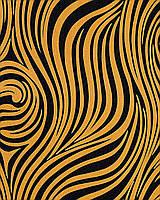 EDEM 1016-11 дизайнерские супермоющиеся обои с рисунком под зебру | с желто-оранжевыми и черными полосками