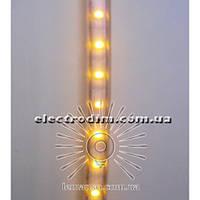 Дюралайт-лента LEMANSO 30SMD силикон жёлтая 5050 220V / LM538