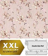 EDEM 978-33 дизайнерские обои на флизелиновой основе с крупными цветами | пастельно-розовые бежевые  | 10,65 кв м