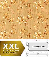 EDEM 978-36 дизайнерские обои на флизелиновой основе с крупными цветами | карамельно-коричневые золотистые | 10,65 кв м