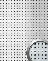WallFace 10988 3D QUAD панель настенная самоклеящаяся с квадратными отверстиями серебряно-металлическая   2,60 м