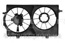 Диффузор электровентилятора кондиционера ВАЗ 2170, ВАЗ 2171, ВАЗ 2172 Приора, 2 вентилятора Halla