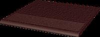 Natural Brown ступень прямая структурная 30x30