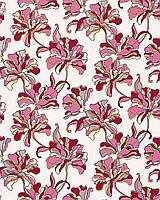 EDEM 072-24 дизайнерские обои для стен с цветочным орнаментом розово-фиолетовые бело-желтые серебристые