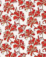 EDEM 072-26 дизайнерские обои для стен с цветочным орнаментом серые красные бело-серебристые золотые