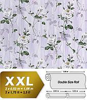 EDEM 975-34 флизелиновые обои XXL в стиле барокко с классическим цветочным рисунком | светло-фиолетовые | 10,65 кв м