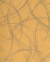 EDEM 1021-11 дизайнерские обои со структурными дугообразными трещинами металлическо-глянцевые желто-золотые