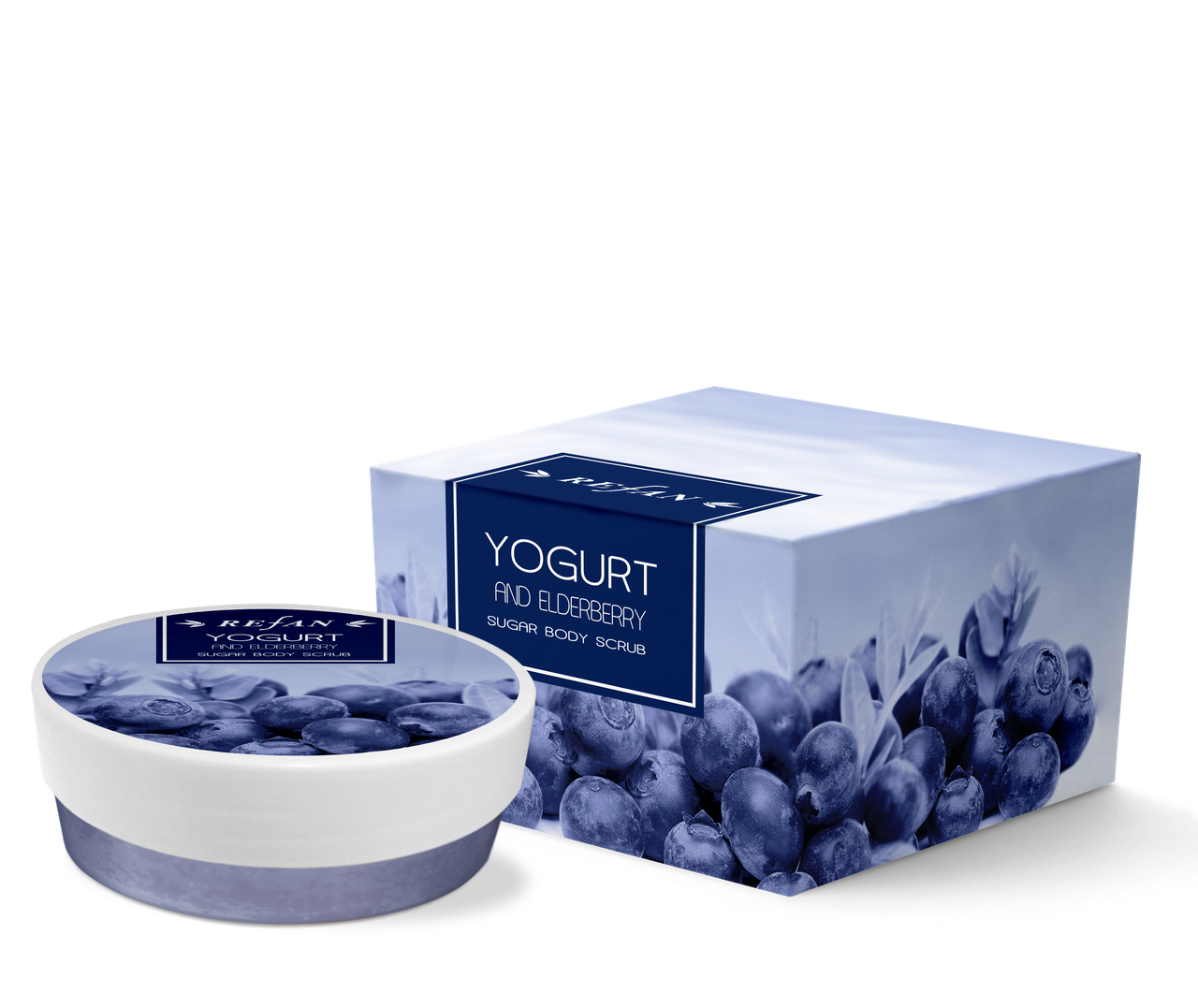 """Сахарный скраб для тела """" Йогурт и бузина"""" - Refan - наливная парфюмерия и натуральная косметика   Рефан Украина в Одессе"""