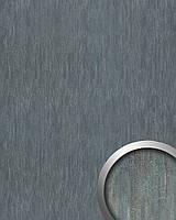 WallFace 17847 OXY STEEL самоклеящаяся настенная панель под кожу эффект стального листа серая | 2,60 м