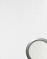 WallFace 17043 MOTION ONE панель настенная самоклеящаяся пластмассовая  с волнистой структурой 3D белая   2,60 м