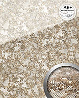 WallFace 17839 LACE панель настенная самоклеящаяся дизайн французское кружево белая коричневая   2,60 м