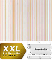 EDEM 967-23 эксклюзивные флизелиновые обои в полоску бежевые белые с блестками | 10,65 кв м