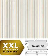 EDEM 967-24 эксклюзивные флизелиновые обои в полоску бежевые кремовые белые с блестками | 10,65 кв м