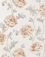 EDEM 086-23 дизайнерские обои для стен с цветочным рисунком | бежевые светло-коричневые