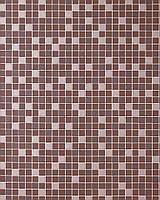 EDEM 1022-14 рельефные обои с квадратной мозаикой обои для кухни и ванной | шоколадно-коричневые с серебристыми деталями