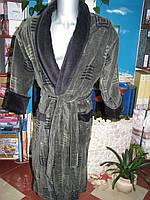 """Мужской махровый халат в оливковом цвете ТМ """"Nusa"""""""