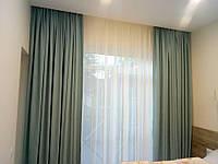 Карниз+штора+тюль комплект шириной 2,5м