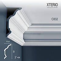 Потолочный карниз Orac Decor C832 XTERIO декоративный молдинг для фасадов в классическом стиле белый 2 м
