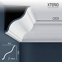 Потолочный карниз Orac Decor C835 XTERIO декоративный молдинг для фасадов в классическом стиле белый 2 м
