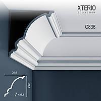 Потолочный карниз Orac Decor C836 XTERIO декоративный молдинг для фасадов в классическом стиле белый 2 м