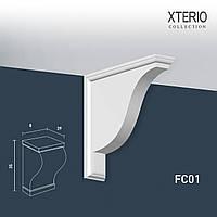 Кронштейн Orac Decor FC01 XTERIO декоративный элемент для фасадов в классическом стиле белый