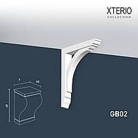 Кронштейн Orac Decor GB02 XTERIO декоративный элемент для фасадов в классическом стиле белый