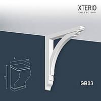 Кронштейн Orac Decor GB03 XTERIO декоративный элемент для фасадов в классическом стиле белый