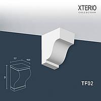 Кронштейн Orac Decor TF02 XTERIO декоративный элемент для фасадов в классическом стиле белый