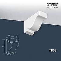 Кронштейн Orac Decor TF03 XTERIO декоративный элемент для фасадов в классическом стиле белый