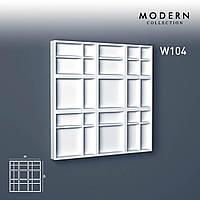Настенная 3D панель Orac Decor W104 MODERN KILT декоративный элемент в стиле модерн белый