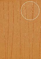 Обои в полоску Atlas COL-665-2 флизелиновые обои гладкие дизайнерские обои переливающиеся оранжевые пастельно-жёлтые красно-оранжевые 5,33 м