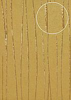 Обои в полоску Atlas COL-765-5 флизелиновые обои гладкие дизайнерские обои переливающиеся золотые бежевые 5,33 м