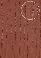 Обои в полоску Atlas COL-965-3 флизелиновые обои гладкие дизайнерские обои переливающиеся коричневые красно-коричневые 5,33 м