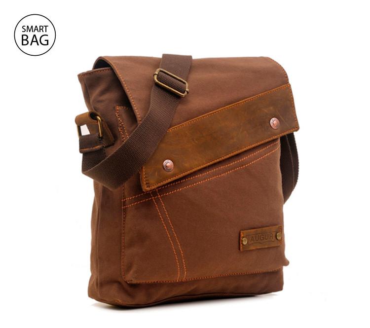 ed50de3aea16 Брезентовая мужская сумка на плечо Augur   цена. Купить в интернет ...