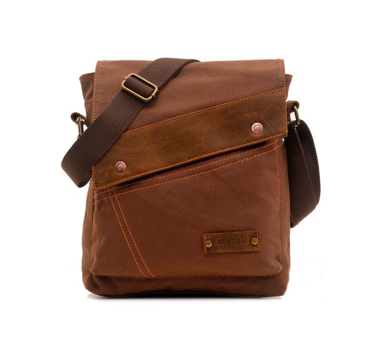 Брезентовая мужская сумка на плечо Augur