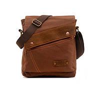 Брезентовая мужская сумка на плечо Augur, фото 1