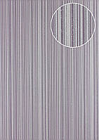 Обои в полоску Atlas PRI-7405-3 флизелиновые обои гладкие дизайнерские обои поблескивающие фиолетовые серебряные пастельно-фиолетовые платиново-серые