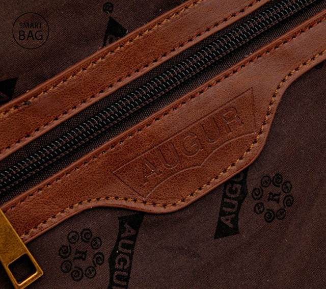 Брезентовая мужская сумка на плечо Augur | коричневая