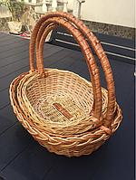 Плетена корзина для подарков в наборе