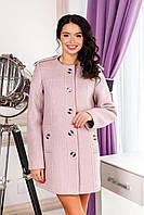 Пальто женское шерстяное  демисезонное MIYA цвет Пудра
