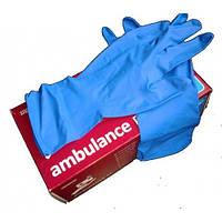Перчатки латексные медицинские (Ambulance М)