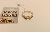 Кольцо золотое женское с камнями. Вес 3,62 грамм. Размер 16.